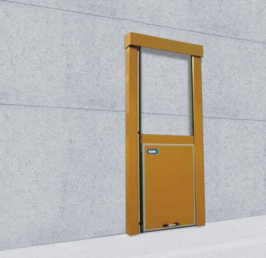 Puerta frigor fica corredera gi guillotina kide for Puerta guillotina