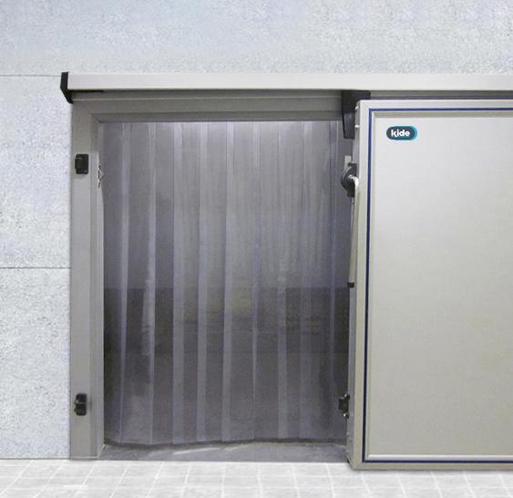 Puerta frigor fica semiaislada de cortina de lamas cl200 - Puerta de lamas ...